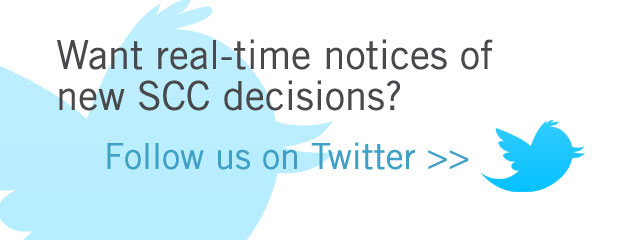 Get SCC notices on Twitter